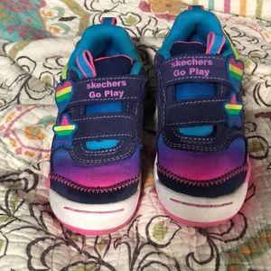 Sketchers go play rainbow dash sneakers